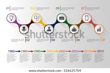 vector infographic; timeline business  template - stock vector