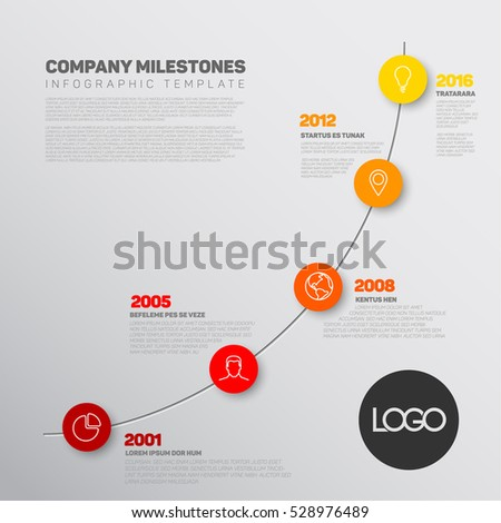 startup milestone template - vector infographic timeline report template biggest stock