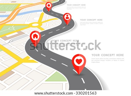 Road Map Images RoyaltyFree Images Vectors – Blank Road Map