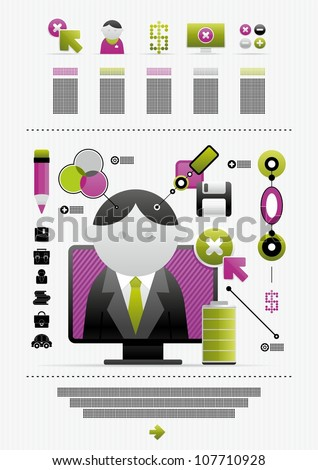 vector infographics and icons - stock vector
