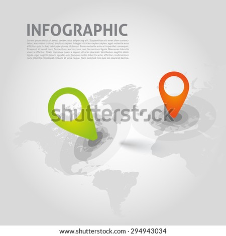 Vector infographics bacground - points, graphic for business design, infographics, reports or workflow layout  - stock vector