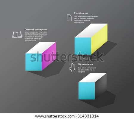 Vector Infographics Base Design  - stock vector