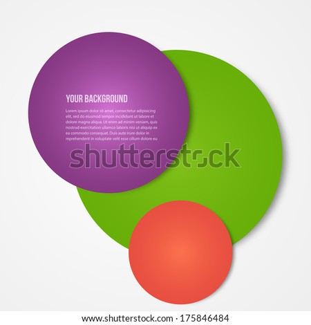 Vector infographics circles template. template web design