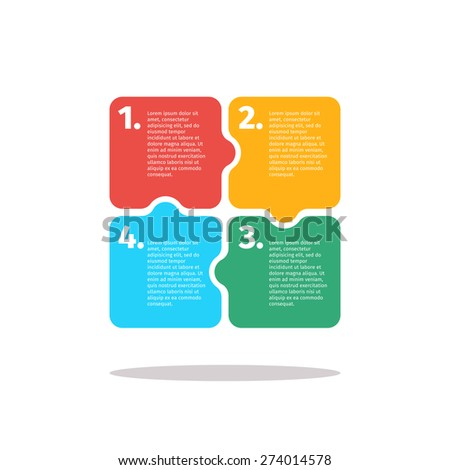 Vector infographics design in puzzle style - stock vector