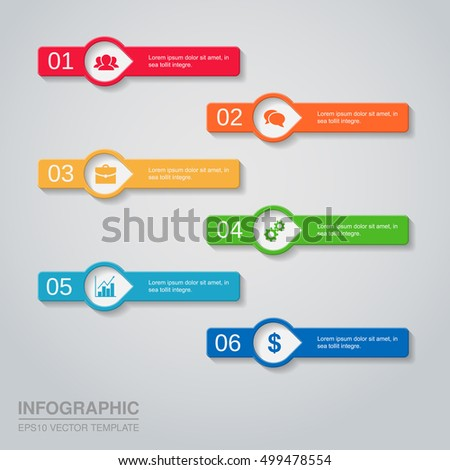 Business Infographic Template Design Step Lable Stock Vector ...