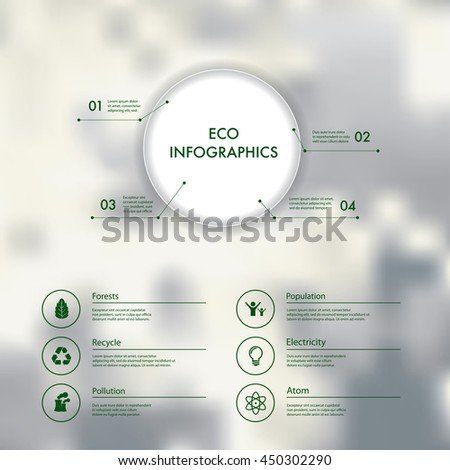 Vector infographics with eco icons. - stock vector
