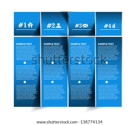 Vector information banner design element. - stock vector