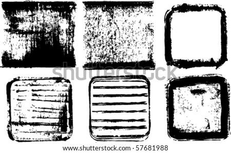 vector ink frames set - stock vector