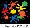 vector ink spot background - stock vector