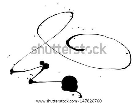 Vector ink stain  - stock vector