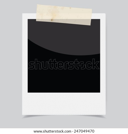 Vector instant photo frame - stock vector