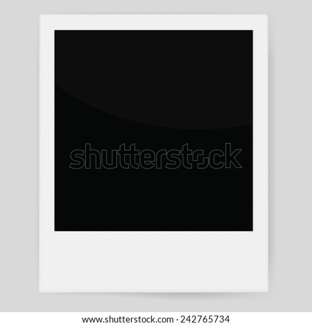 Vector instant photo frame template - stock vector