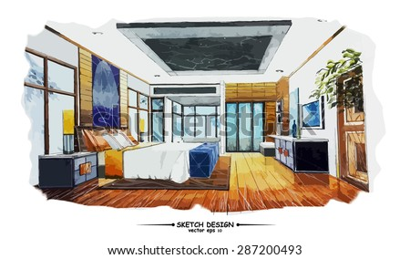 Sketch Interior Design Enchanting Interior Design Sketch Stock Images Royaltyfree Images & Vectors . Decorating Inspiration