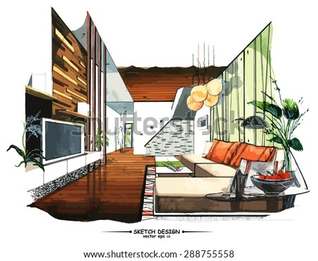 living room sketch stock images, royalty-free images & vectors