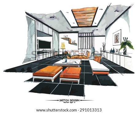 Interior Design Sketch Stock Images Royalty Free Images