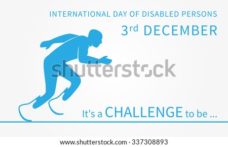 Vector International Day of Disabled Persons illustration.