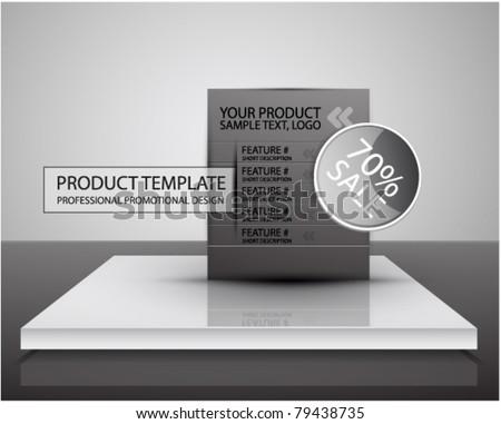 Vector internet advertising web box - stock vector