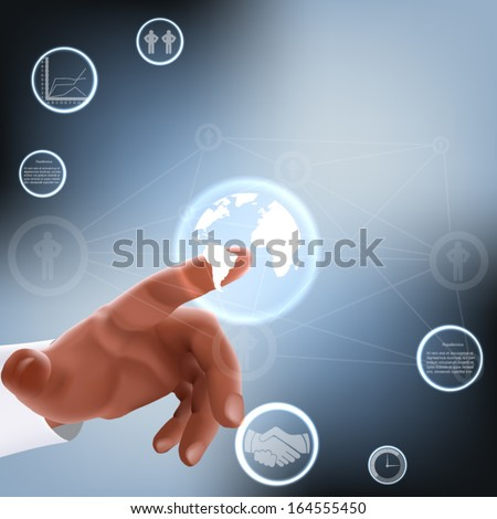 vector internet concept - with media icons - stock vector