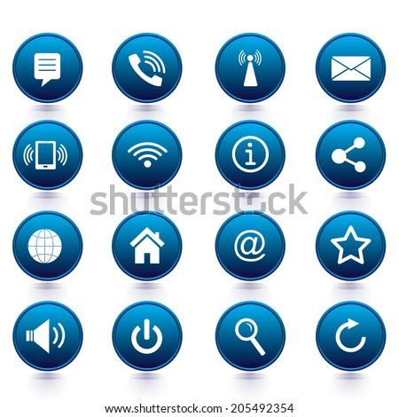 Vector - Internet icons set  - stock vector