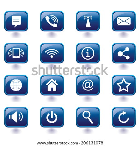 Vector - Internet icons set