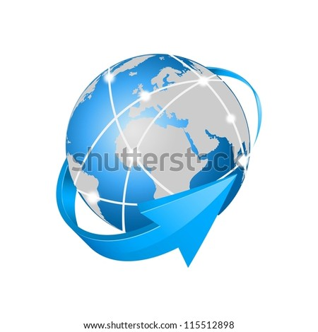 vector internet network - stock vector