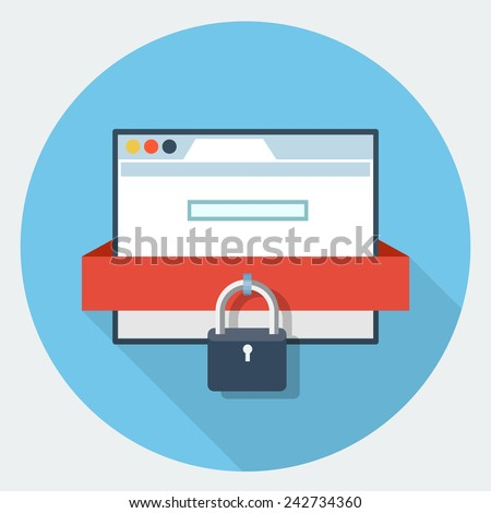 Vector internet security icon - stock vector