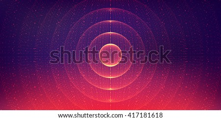 Vector interstellar space background.Cosmic galaxy illustration.Background with nebula, stardust and bright shining stars.Vector Illustration for party ,artwork, brochures, posters. - stock vector