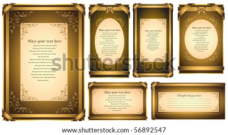 Vector Invitation Card or Greeting Card - stock vector
