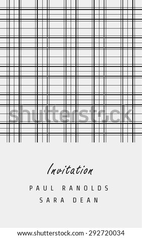 Vector invitation card or ticket, monochrome geometric pattern templates. Ideal for Save The Date, tickets, anniversary date, birthday cards, invitations.