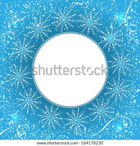 Vector invitation card snowflakes new year stock vector 164178230 vector invitation card with snowflakes new year invitation card nice template for your designs stopboris Choice Image