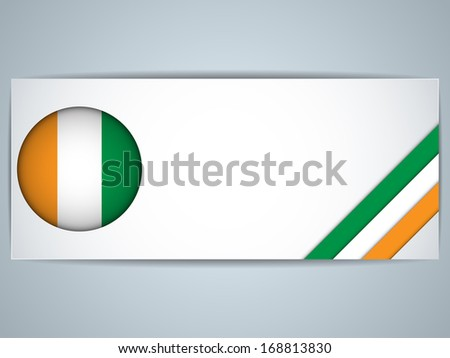 Vector - Ireland Country Set of Banners - stock vector