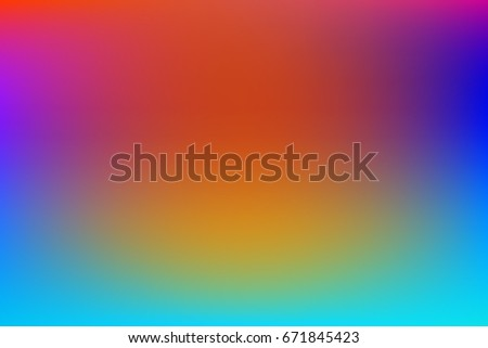 Vector Iridescent Abstract Bright Blue Pink Yellow And Orange Background Pearlescent