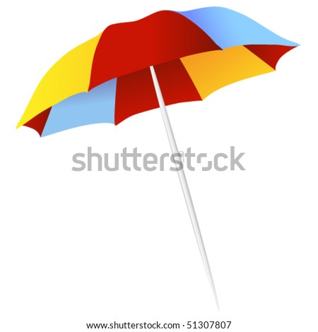 Vector isolated parasol