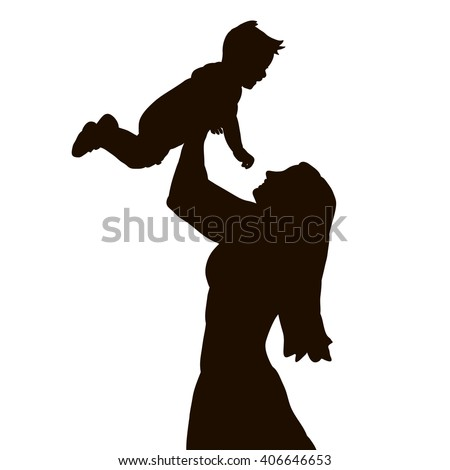 baby silhouette stock images royaltyfree images