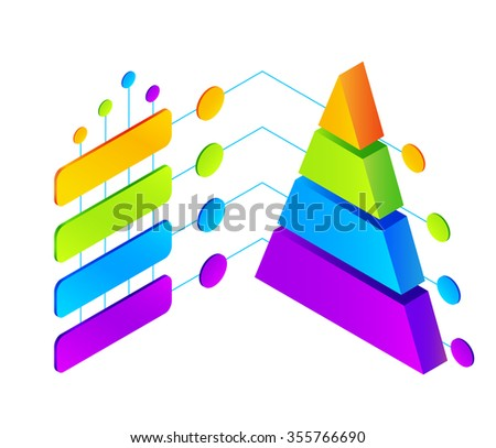 Vector isometric colorful infographic illustration - stock vector