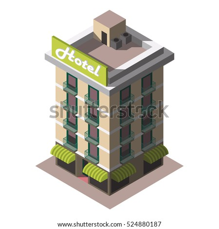 Isometric town stock images royalty free images vectors for Asino amiatino