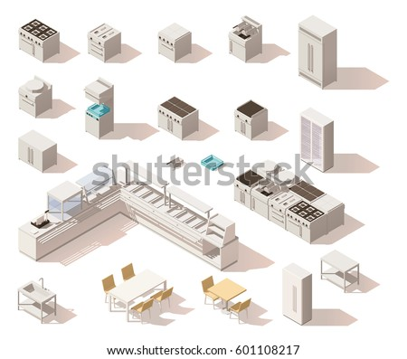 Restaurant Kitchen Illustration commercial kitchen stock images, royalty-free images & vectors
