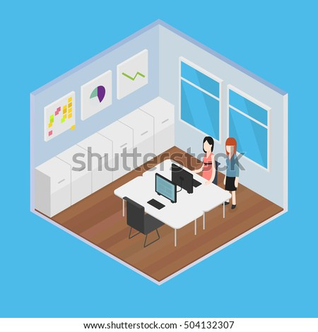 Vector Isometric Office