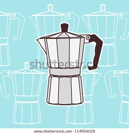 Italian Coffee Maker Vector : 301 Moved Permanently