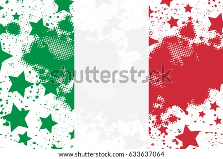 Vector Italian grunge flag. Using for decoration works.