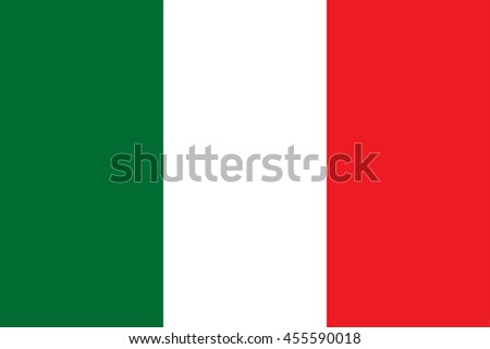Vector Italian Republic flag