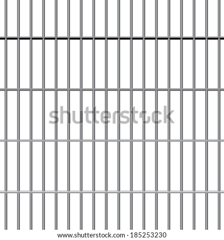 vector jail bars - stock vector