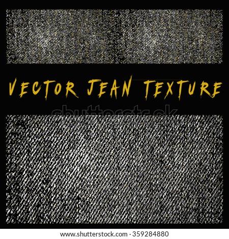 vector jean denim texture - stock vector