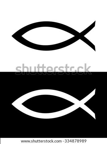 vector jesus fish icon stock vector 334878989 shutterstock rh shutterstock com jesus fish logo vector Jesus Fish Symbol Stencil