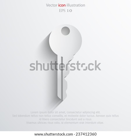 Vector key web icon. Eps 10. - stock vector