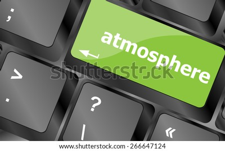 vector Keyboard with enter button, atmosphere word on it - stock vector