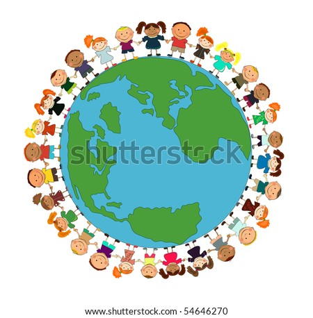vector kids. - stock vector