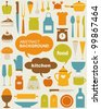 Vector kitchen Icons - stock