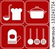 Vector kitchen symbols - stock vector