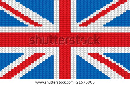 Vector  knitted national United Kingdom of Great Britain  Flag